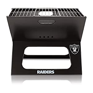 NFL Oakland Raiders Portable Collapsible X-Grill