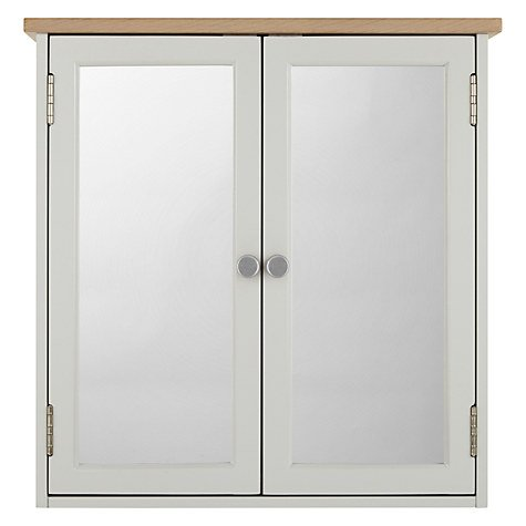 John Lewis Croft Collection Blakeney Double Mirrored Bathroom Cabinet. Light Silver