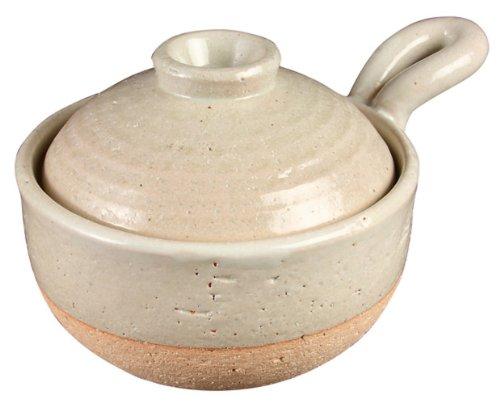 長谷園 粥鍋 ホワイト(1~2人用) CT-17
