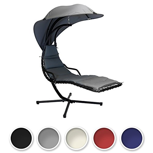 Bentley Garden Helicopter Garden Patio Swing Chair Seat Lounger - Black