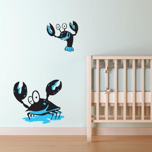 underwater-crab-and-lobster-wall-sticker-kids-nursery-etiquetas-de-la-pared-etiquetas-de-la-pared-tr