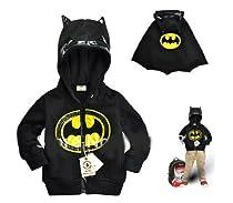 SOPO Batman Kid Winter Jacket with Hood 1-6Y Baby Boys Winter Coat Outerwear