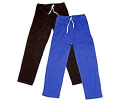 Indistar Women Super Combo Pack 4 (Pack of 2 Lower/Track Pant and 2 T-Shirt)_Brown::Brown::Blue::Blue::Gray _L