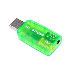 BestDealUSA USB 2.0 to 3D 5.1 Audio Sound Card Adapter 3.5 mm for PC Laptop