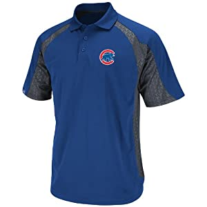 MLB Chicago Cubs Season Pass Polo Shirt, Royal Granite, Medium
