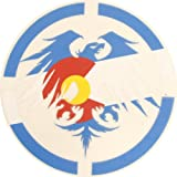 Never Summer Colorado Eagle Dyecut Sticker 10 inch