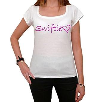 Swiftie t-shirt fan love music tour style cool gift T-shirt Femme imprimé célébrité - Blanc, XS