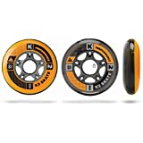 K2 Skate Wheel with ILQ 7 Bearing and Aluminum Spacer (Pack of 8)