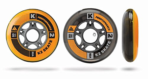 K2 Skate Wheel (Pack of 4), 80mm (Rollerblade Wheels 80mm 82a compare prices)