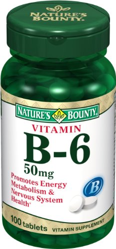 Nature's Bounty, Vitamin B-6 50mg, 100-Count (Pack of 2)