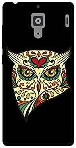 The Racoon Grip angry owl hard plastic printed back case / cover for Xiaomi Redmi