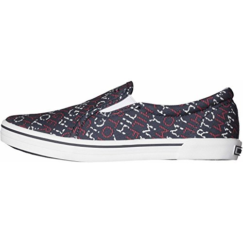 Tommy Hilfiger Slater 2D-2 Midnight Tommy Print Textile Trainers