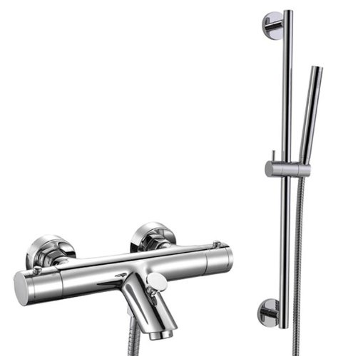 Thermostatic Bath Filler Bar Mixer Tap and Hand Held Shower