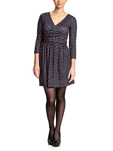 Pussy Deluxe Dress a nido d'ape navy allover blu 46/48