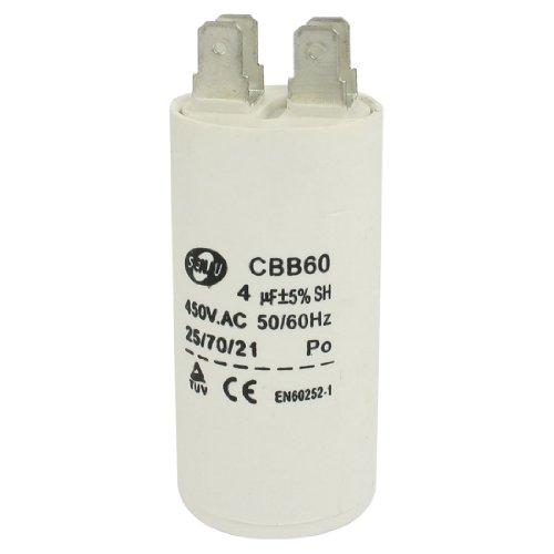 Washing Machine Cbb60 Nonpolar Ac 450V 4Uf 50/60Hz Motor Start Capacitor front-168693