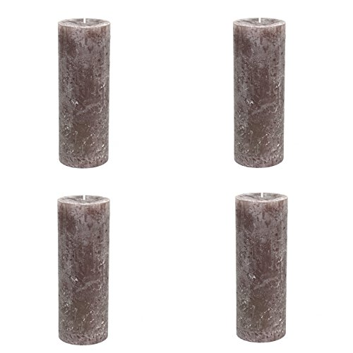 4-bougies-x-rustic-cylindrique-taupe-oe-68-x-190-mm-lot-de-4-bougies-pilier-de-bougies-pilier-bougie