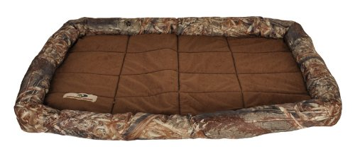 Mossy Oak 22 By 30-Inch Bolster Pet Crate Mat, Large