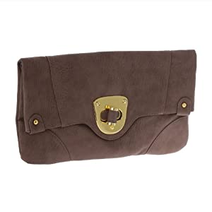 Urban Expressions Womens Vegan Leather Chelsea Clutch Purse (Nutmeg)