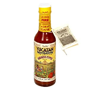 Try Me Yucatan Sunshine Habanero Pepper Sauce 5-ounce Bottles Pack Of 6 from Try Me