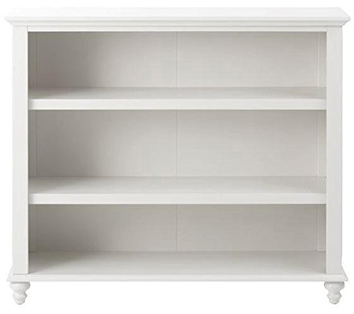 Shutter Open 3 shelf Bookcase, 3 SHELF, POLAR WHITE White 3 Shelf Bookcase