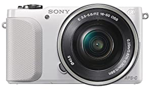 Sony NEX-3N Fotocamera Mirrorless, 16.1 Megapixel, Zoom Motorizzato, Obiettivo 16-50 mm, Bianca