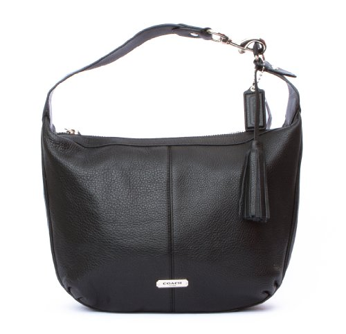 Coach   Coach Avery Leather Small Hobo Handbag Purse F23960 Black