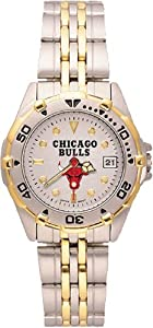 Chicago Bulls Ladies All Star Watch Stainless Steel Bracelet by Logo Art