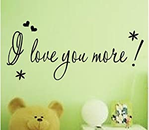 Good Life I Love You More Quote With Flowers and Heart Decorative Wall Decal Decor for Room by Good Life