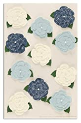Martha Stewart Crafts Stickers Gardenia White/Blue By The Package
