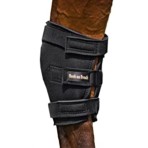Back on Track 18.5-Inch Top 16-Inch Bottom Therapeutic Horse Hock Brace with Hole, X-Large