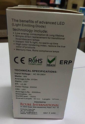9W LED Bulb (Cool Daylight)