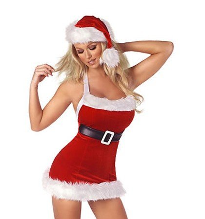 Sexy Miss Santa Mrs Christmas Womans Xmas Fancy Dress Outfit / Costume