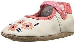 Robeez Emma Mary Jane Soft Sole Crib Shoe (Infant), Vanilla, 0-6 Months M US