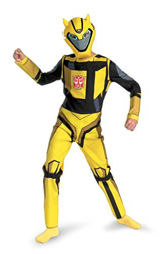 Boys Transformer Bumblebee Kids Child Fancy Dress Party Halloween Costume