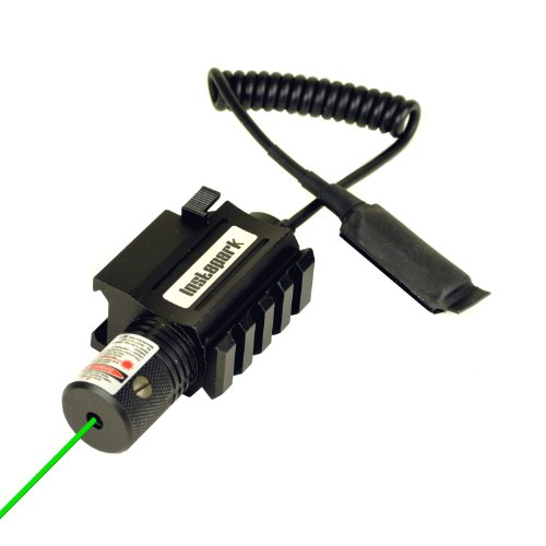 Instapark® GLS-3 Pistol / Rifle Compact Mounted Green Laser Sight with Picatinny Rail