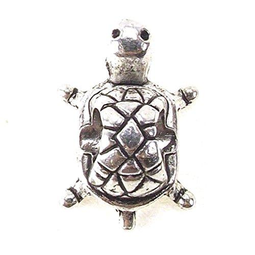 Beach Themed Bead Fish Turtle Anchor Sand Dollar Dangle Charm for Snake Chain Charm Bracelets (Turtle Charm)