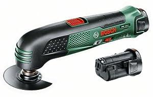 Bosch PMF 10,8 LI HomeSeries Akku-Multifunktionswerkzeug + 2 Akkus und Ladegerät + Koffer (10,8 V / 1,5 Ah)