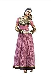 Adah Fashions Womens Georgette Anarkali Dress Material (555-211A _Pink _42)