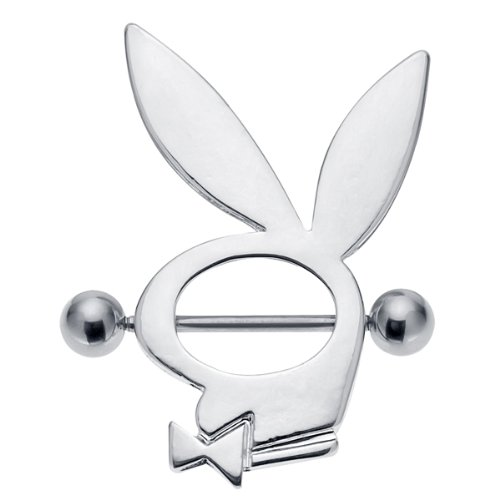 Licensed Playboy Bunny Logo Nipple Ring Shield Piercing Jewelry