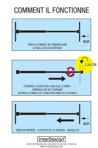 InterDesign Cameo Shower Curtain Tension Rod, Bronze, 26-42 Inch ...