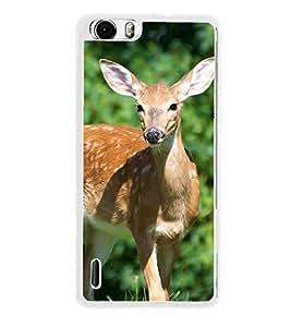 Deer 2D Hard Polycarbonate Designer Back Case Cover for Huawei Honor 6