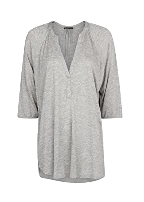 Mango Women's V-Neck Blouse, Gunmetal Grey, M