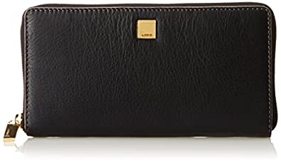 Lodis Mill Valley Iris Zip Around Wallet,Black,One Size