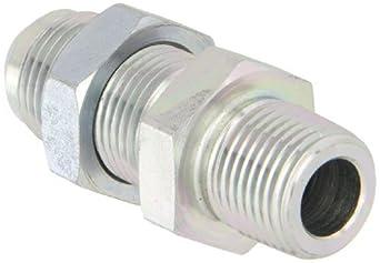 Bulkhead Connector, Male 37 Grado JIC, Hombre Tema Pipe, JIC 37 Tipos