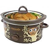 Crock Pot Slow Cooker- Rare Owl Pattern on Oval Pot 4qt