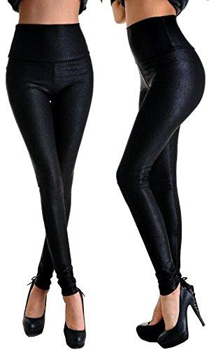 HO-Ersoka Legging Reptil Leder-Look schwarz Einheitsgröße S/M