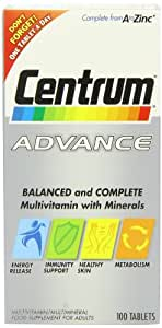 Centrum Advance Multivitamin and Multiminerals 100 Tablets