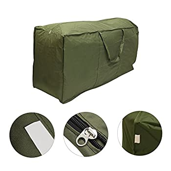 Patio Cushion Storage Bag, XGZ Waterproof Outdoor Protective Zippered Garden Storage Bag Cover Furniture Pads Lightweight Carry Case