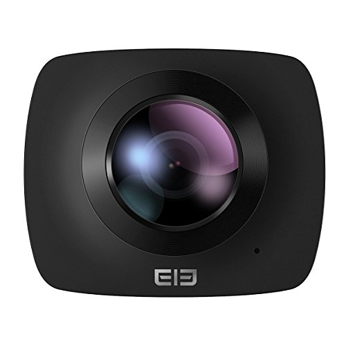 ELE-CAM-360-Grad-Panorama-Kamera-VR-Vollsphrenkamera-220-Fisheye-Wilde-Winkelobjektiv-1080P-Full-HD-30FPS-kamera-Ball-berwachungskamera-Wifi-fr-virtuelle-Brille-Sports-Action-Kamera-mit-Halterung-32G-