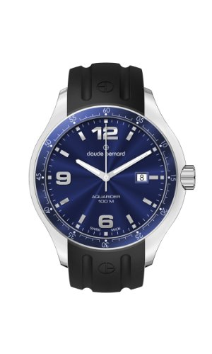 Claude Bernard Men's 70164 3B BUIN Aquarider Blue Dial Rubber Date Watch